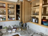 Cupboards and counter contents lot