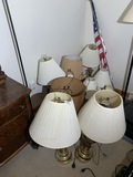 Large lot of old lamps