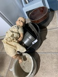 Antique Ideal Doll, mixing bowls and more