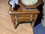 Wooden Two Drawer Side Table