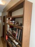 Large wooden wall shelf unit