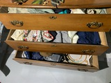 Aprons, linens, curtains etc in 3 drawers