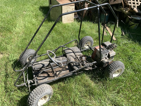 Vintage Go Kart with Motor