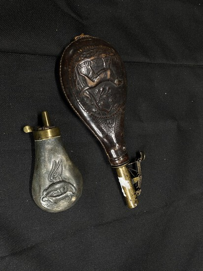 2 Antique Powder or Shot Containers