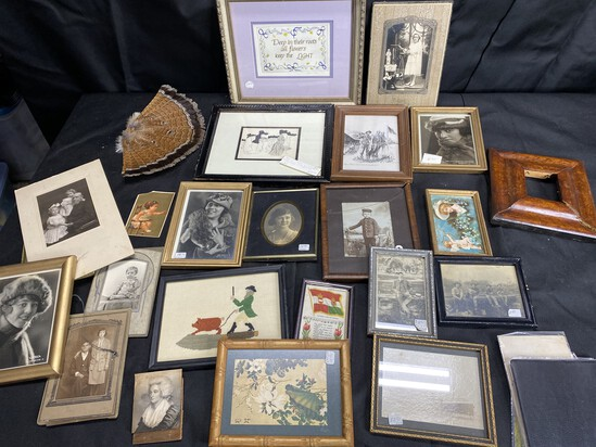 Large Lot Antique photos, prints and more