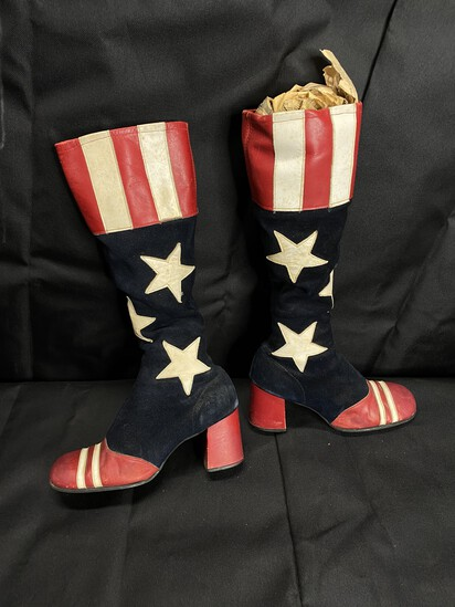 Leather 1976 Bicentennial Boots Size 6.5