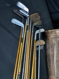 Group of Antique Golf Clubs - Many Hickory