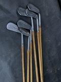 Set of Nicer Antique Hickory Shaft Golf Clubs