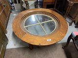 Unusual Table Made from Large Antique Window