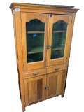 Antique Flat Wall Cupboard with Glass front