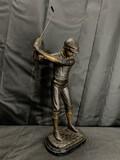 Vintage Metal Golfer Statue