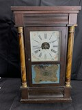 Antique Mantle Clock with Painted Dial