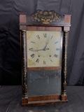 Antique Mantle Clock with Theorem Decoration
