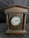 Antique Mantle Clock with Oak Case