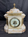 Antique Elaborate Marble Mantle Clock - Japy Freres