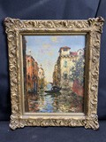 Oil on Board Painting - Venice Scene - Charles Cousins