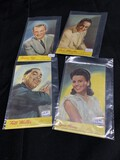 4 Antique Promotional postcards for Musicians