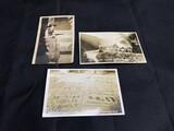 3 RPPC Real Photo Postcards
