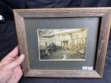 Rare Interior Photo of an Early Automobile Tire Shop