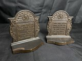 Pair of Heavy Cast Metal Antique Bookends