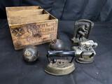Primitives and metal wares antique lot