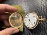 Antique Burlington Pocket Watch In Gold Filled Hunter case