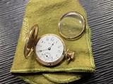 Antique Hampden Pocket Watch in 14k gold case
