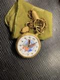 Vintage Arnex Pocket Watch with Patriotic Dial