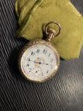 Antique Gold Filled Elgin Pocket Watch w/Horse Case