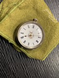 Antique Swiss Key Wind Watch with Silver Case