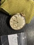 Rare Antique Bulova Pocket Watch in Gold Filled Case
