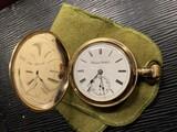 Hampden Pocket in Gold Filled Hunter Case