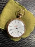 Antique Rockford Pocket Watch in Gold Filled Case