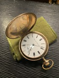 Antique Hamilton Pocket Watch in Gold Filled Case