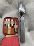 WWII Nazi German Field Cutlery Mess Set.
