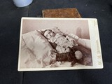 Cabinet Card Post Mortem Photo Child with Doll