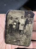Rare c. 1860s Tintype Photo African American Black Farm Laborers