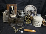 Primitives, antique metal ware and more lot