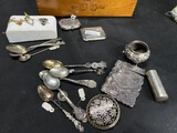 Sterling silver - spoons, makeup case, card case, tums and more