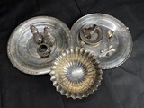 Group lot of antique sterling silver