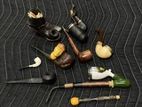 Group of antique tobacco pipes