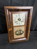 Antique OG Mantle Clock w/Painted Glass