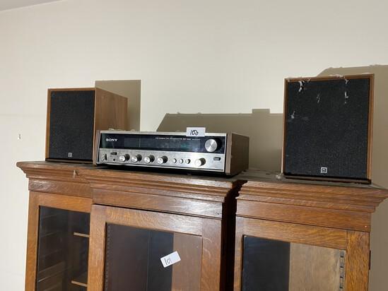 Vintage Sony Stereo w/Speakers