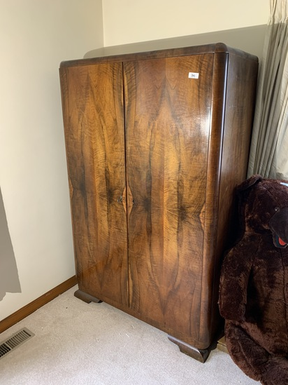 Large c. 1930 Armoire Cabinet
