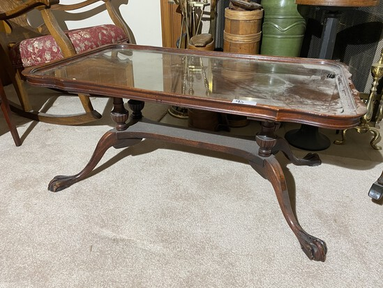 Vintage Paw Foot Coffee Table
