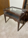 Vintage glass and wood display case/Stand