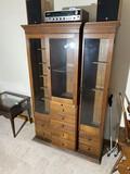 Antique Oak Doctor or Dentist's Office Cabinet