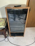 Onkyo Stereo setup in cabinet