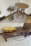 Lamp table, ashtray, coffee table lot