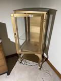 Vintage locking metal display cabinet